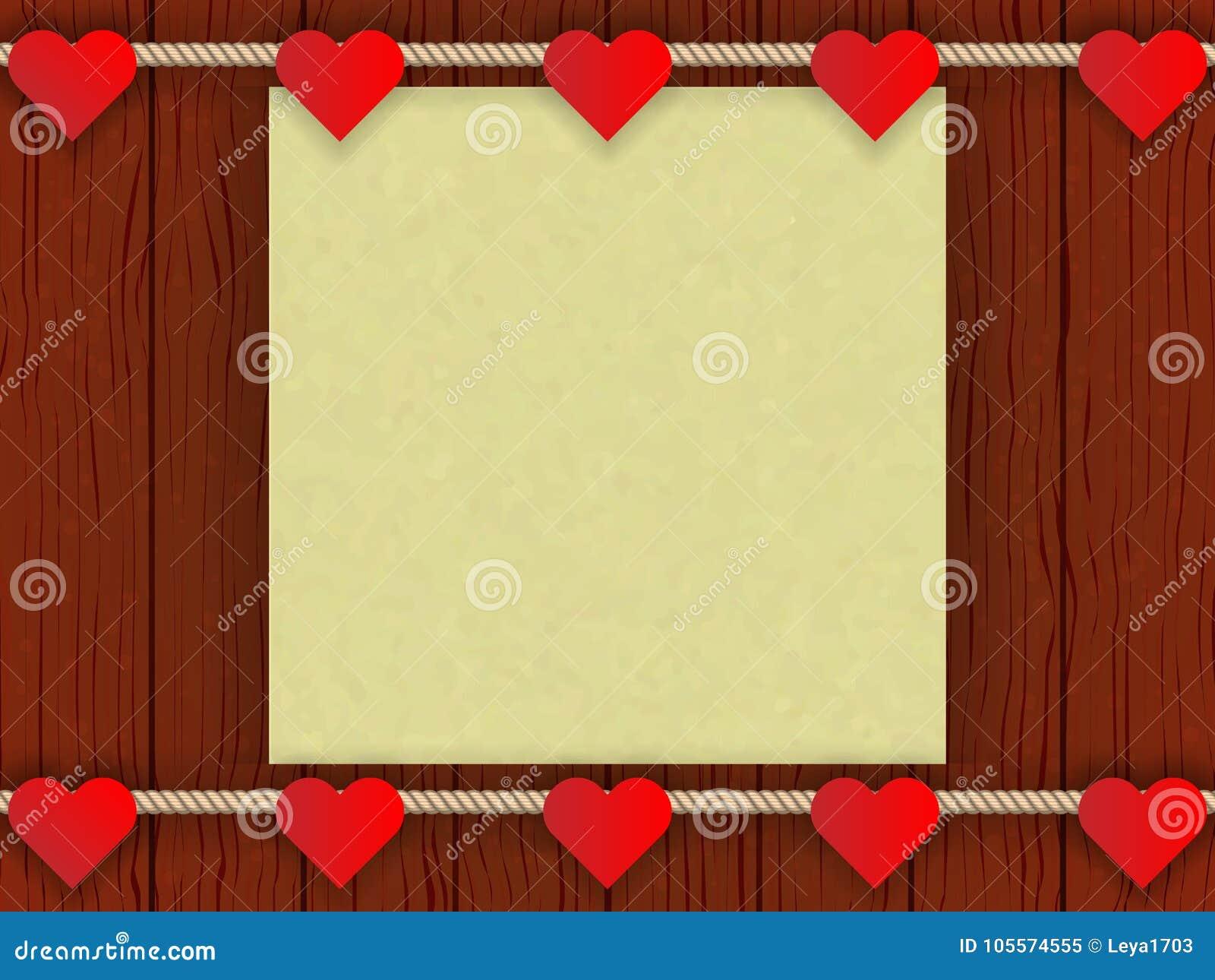 Drewno ściana z romantycznym wystrojem
