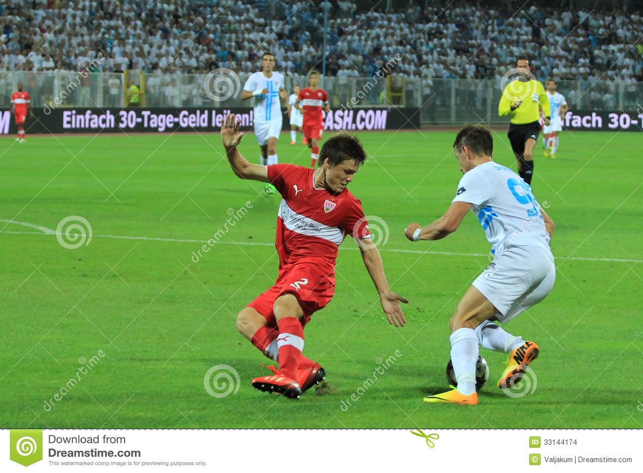 22: soccer match between hnk rijeka and vfb stuttgart (4. qualifying
