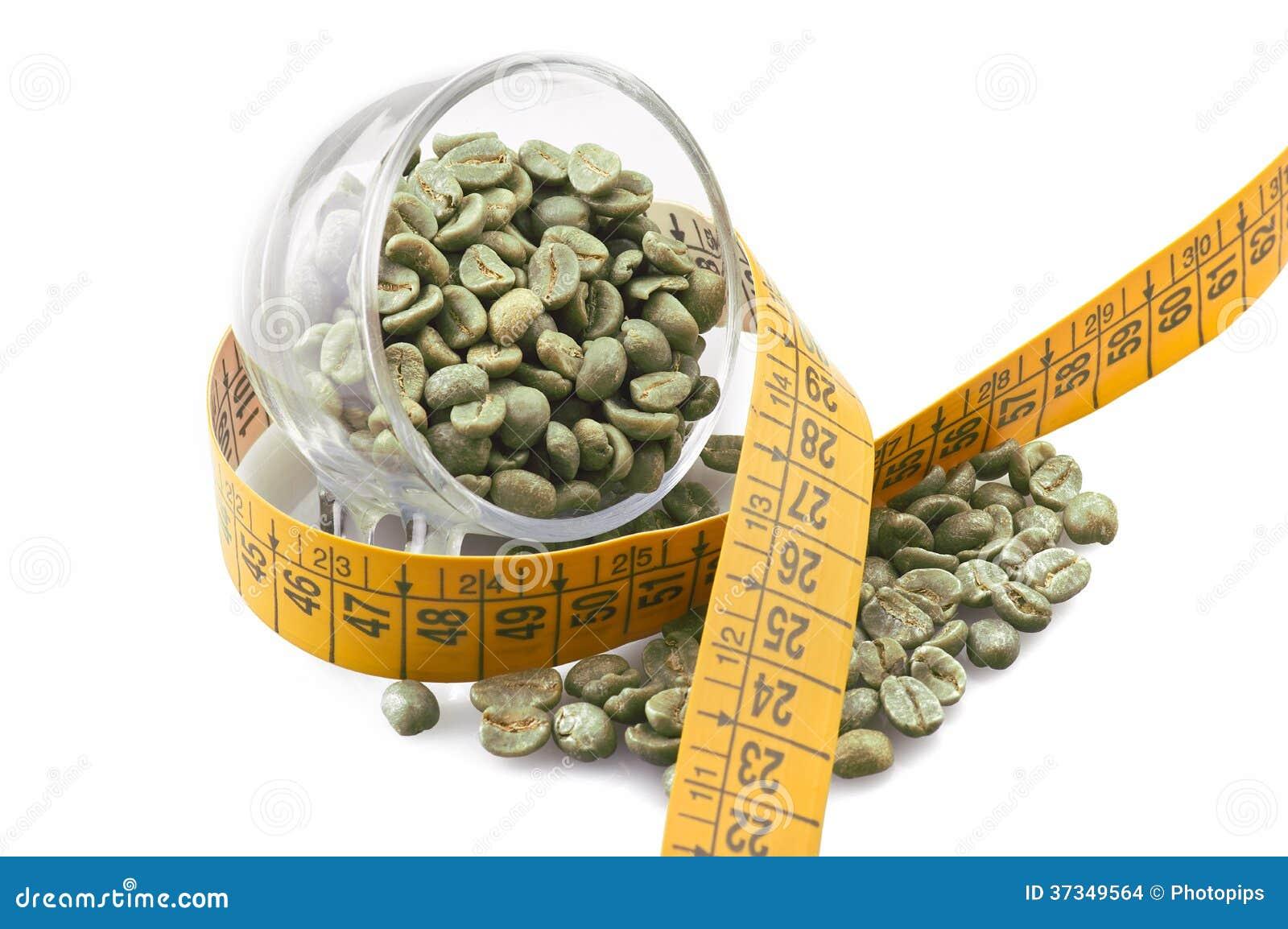 Dricka rått grönt kaffe