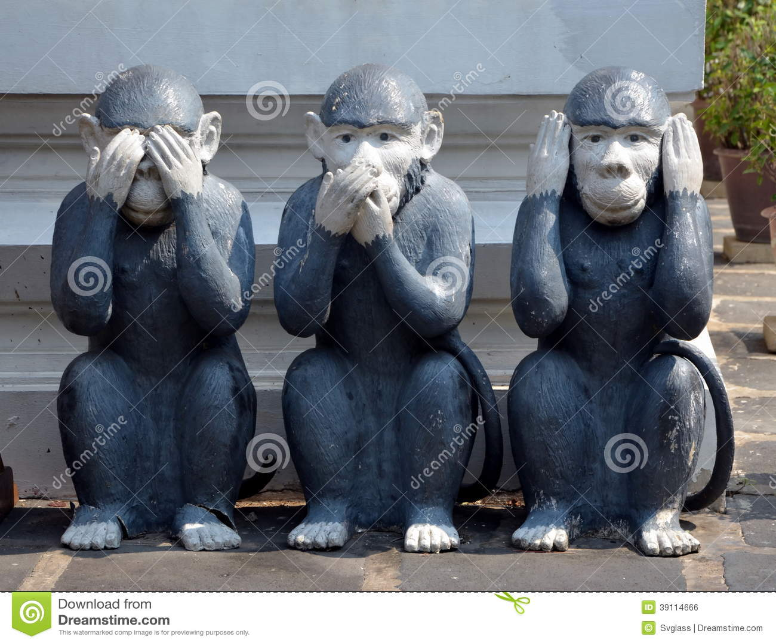 Drie apen, beeldhouwwerk