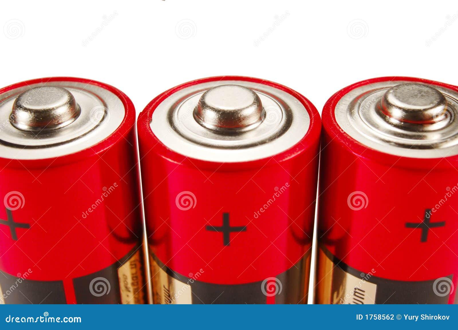 Drie batterijen