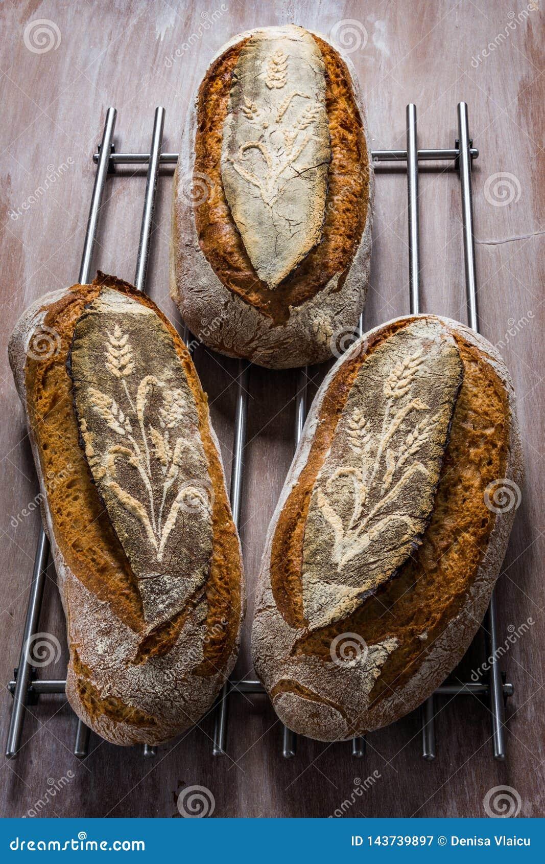 Drie broden van brood