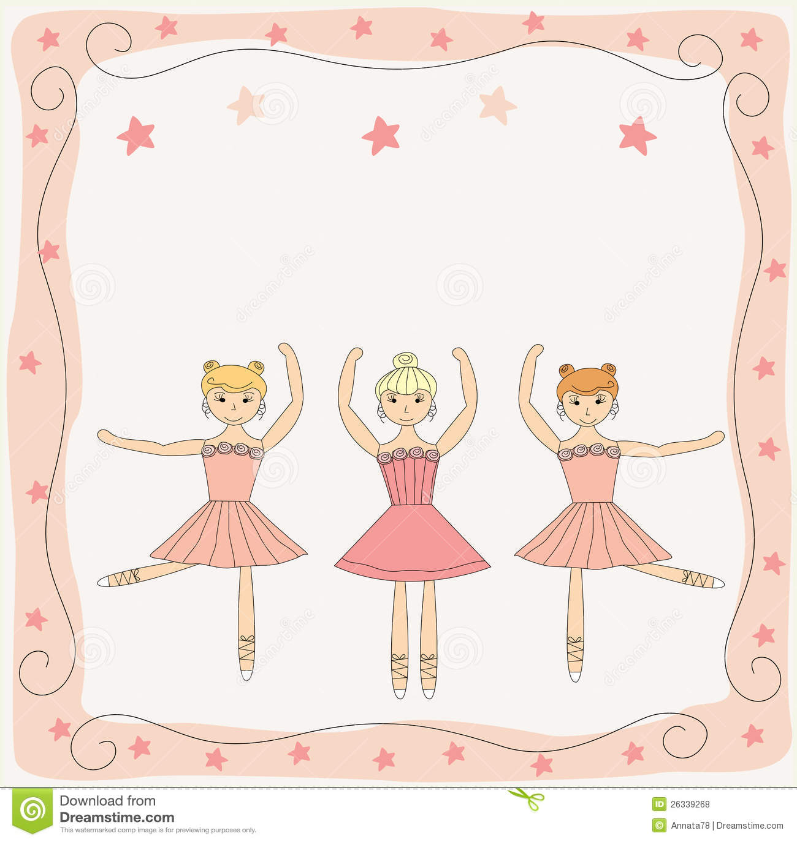 Drie dansende leuke ballerina s