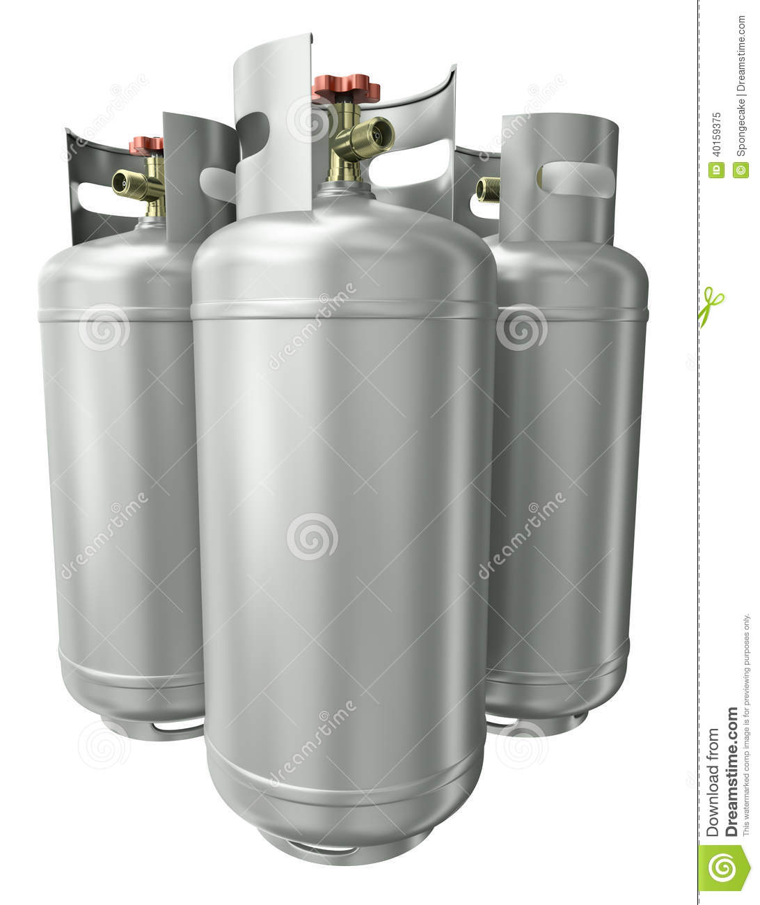 Drie gascontainers