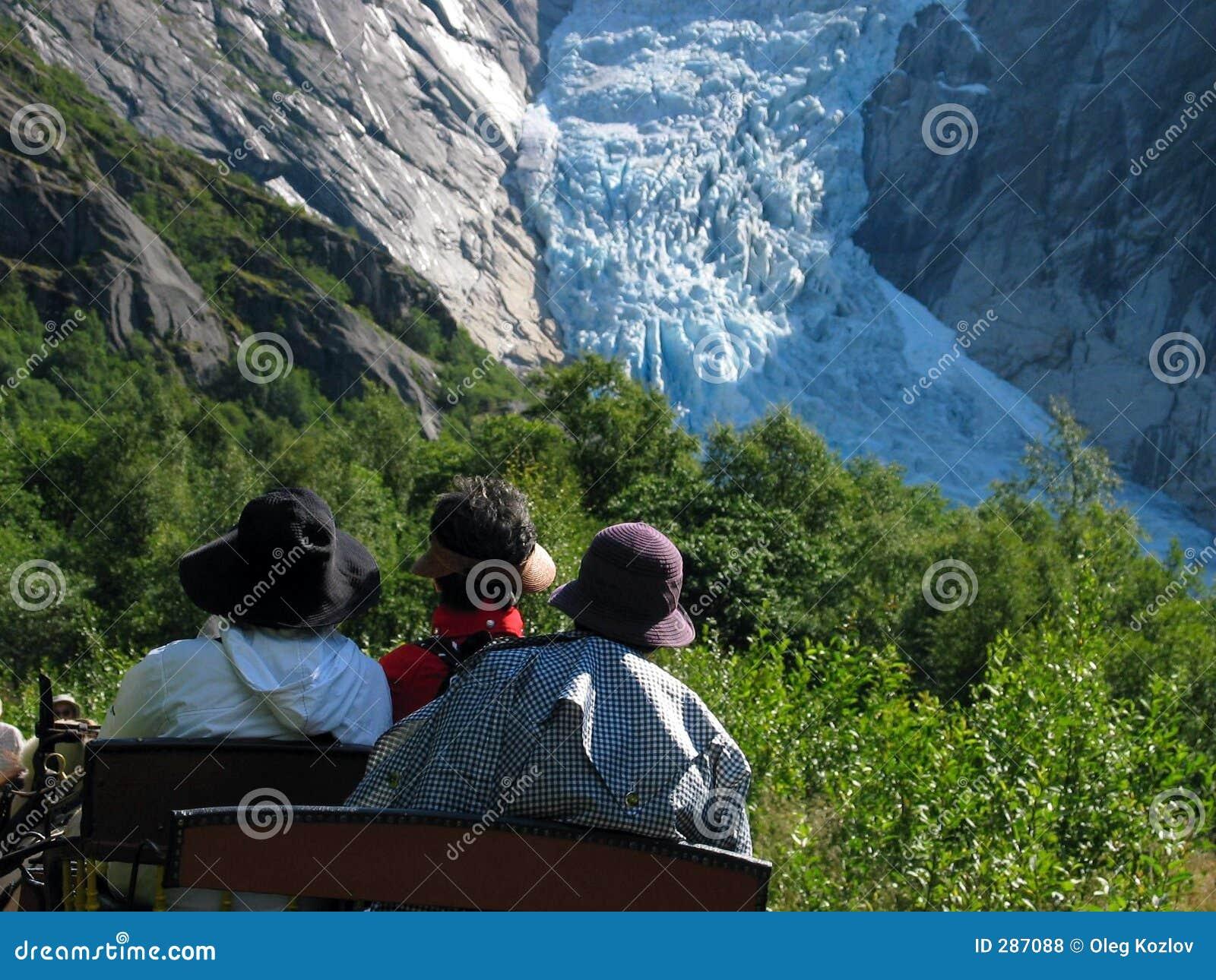 Drie hoeden en gletsjer