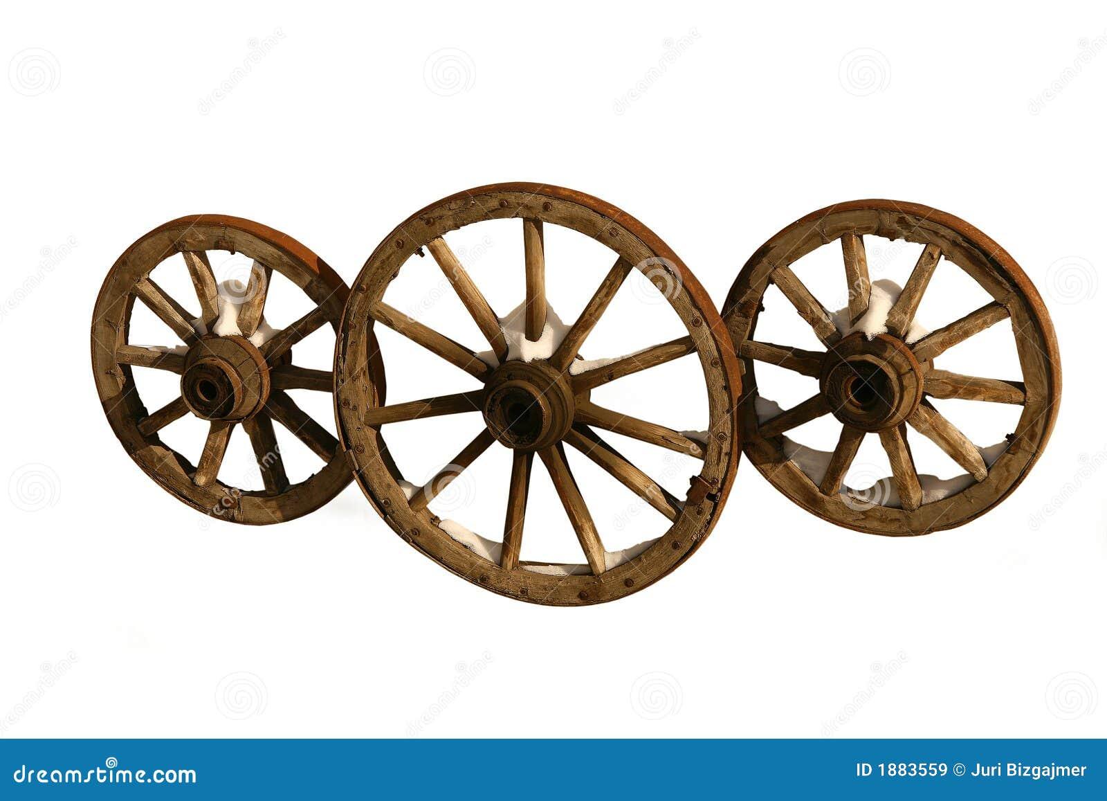 Drie houten wielen royalty vrije stock afbeeldingen beeld 1883559 - Houten doos op wielen ...