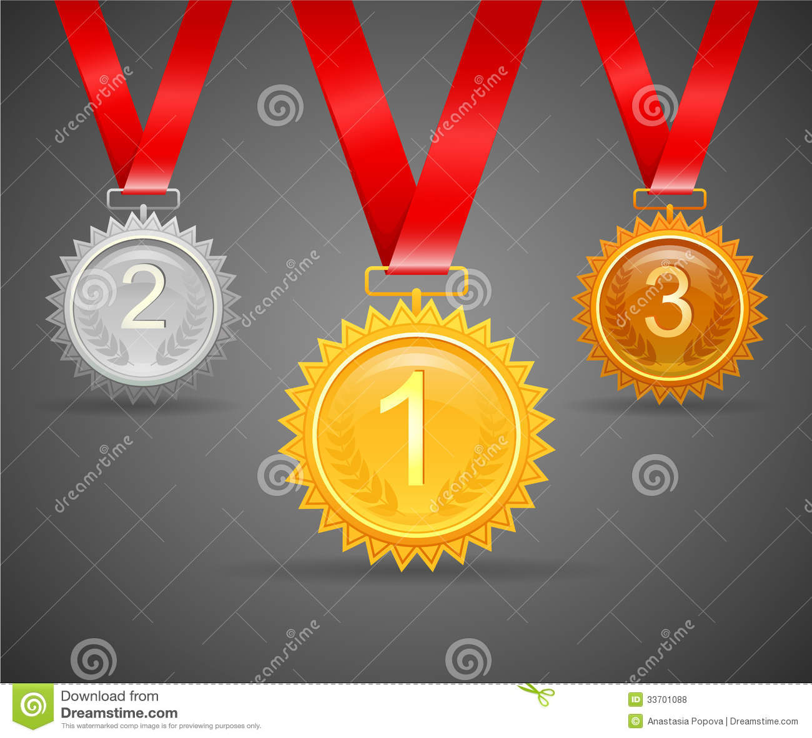 Drie medailles voor toekenning