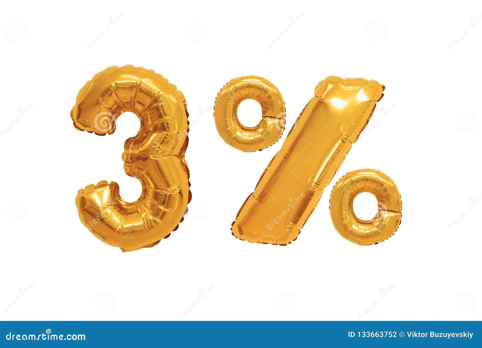 Drie percenten van ballons oranje kleur