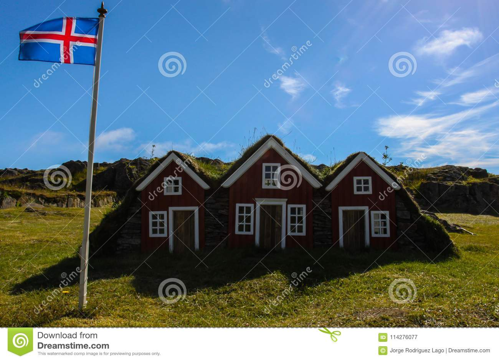 Drie plattelandshuisjes in IJsland