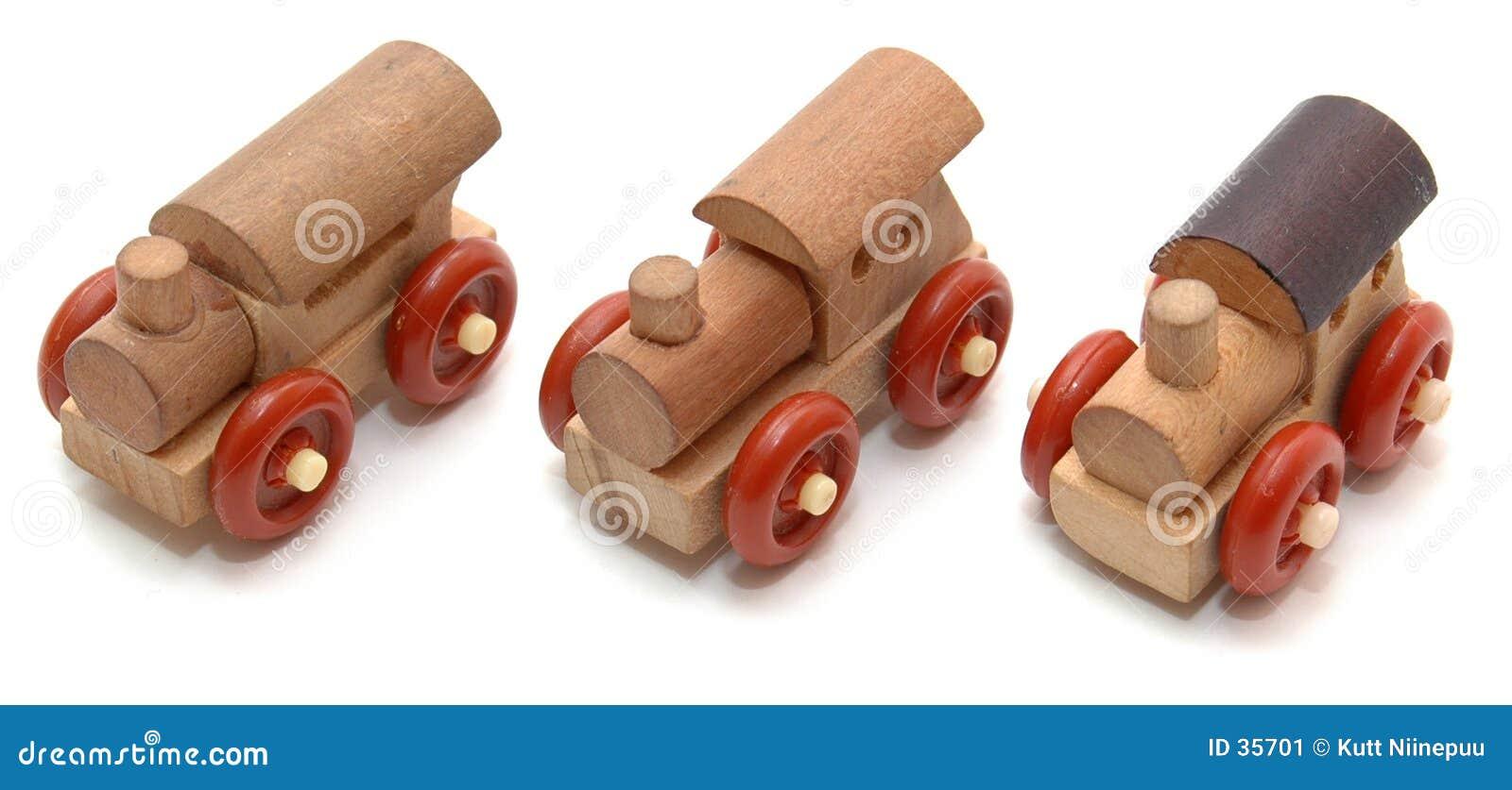 Drie uiterst kleine vrachtwagens