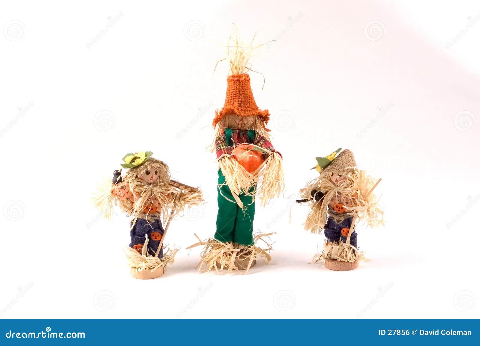 Drie Vogelverschrikkers