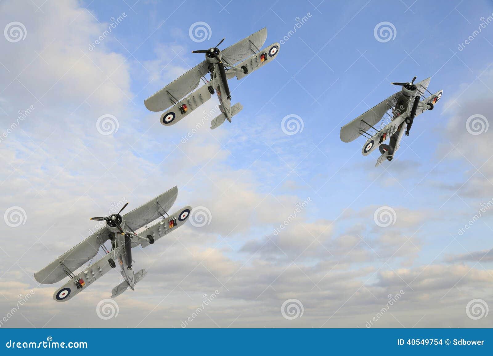 Drie Wereldoorlog Één Armstrong Whitworth FK 8 tweedekkers die Aqro doen