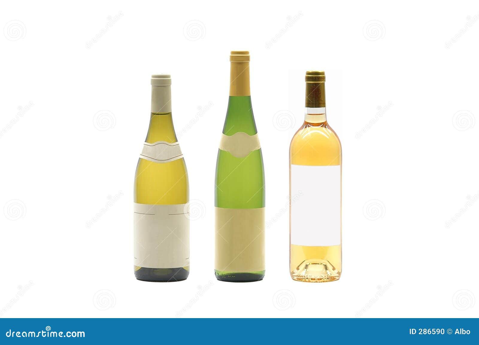 Drie wijnflessen