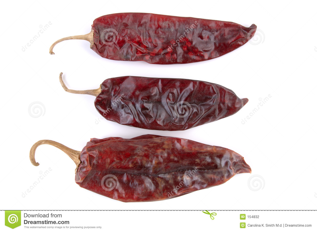 Dried Chili Peppers Trio
