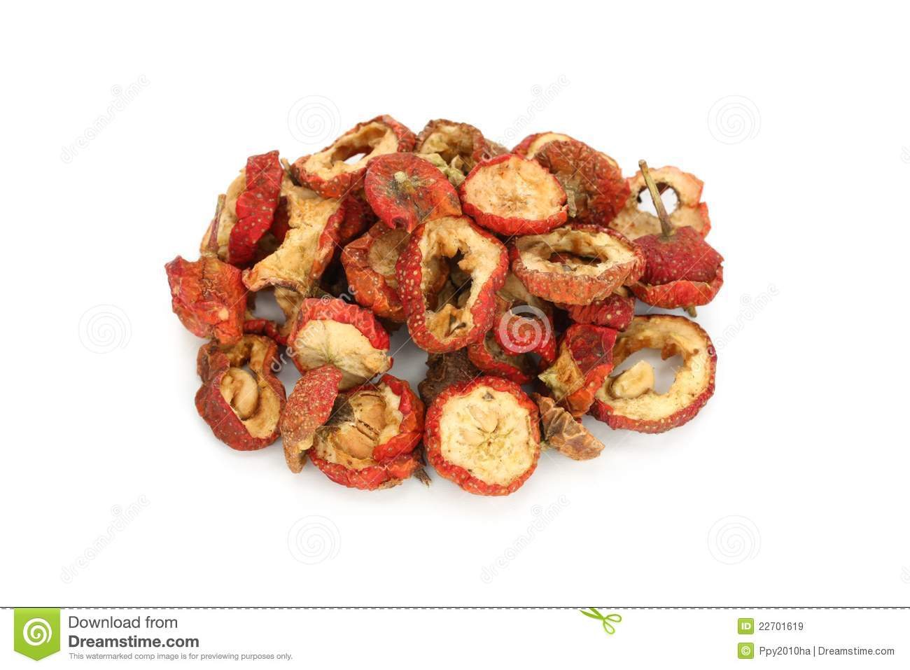 Dried chinese hawthorn fruits, traditional chinese
