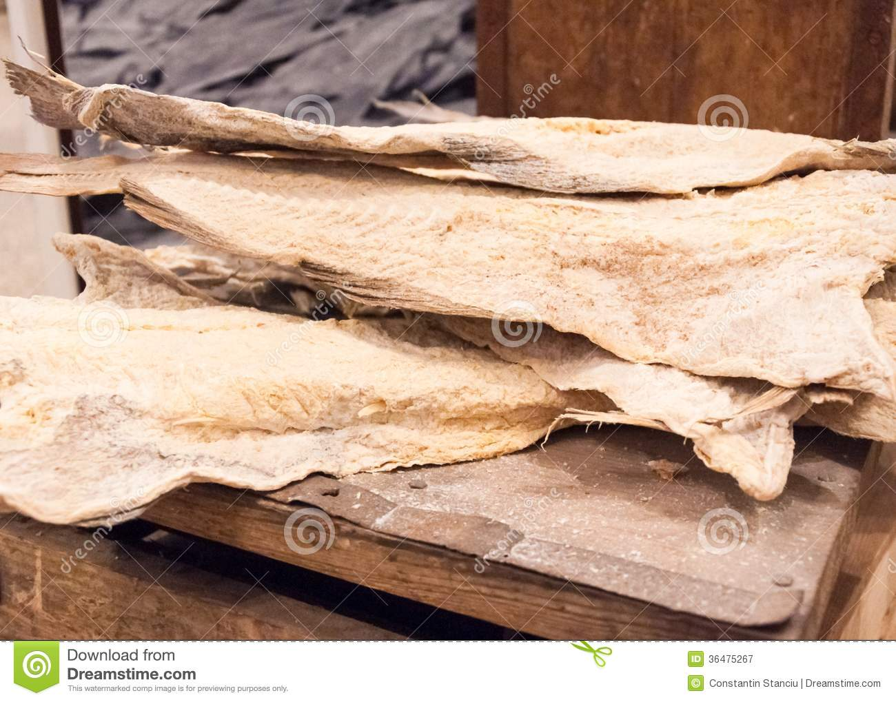 dried cod fish in iceland royalty free stock photography