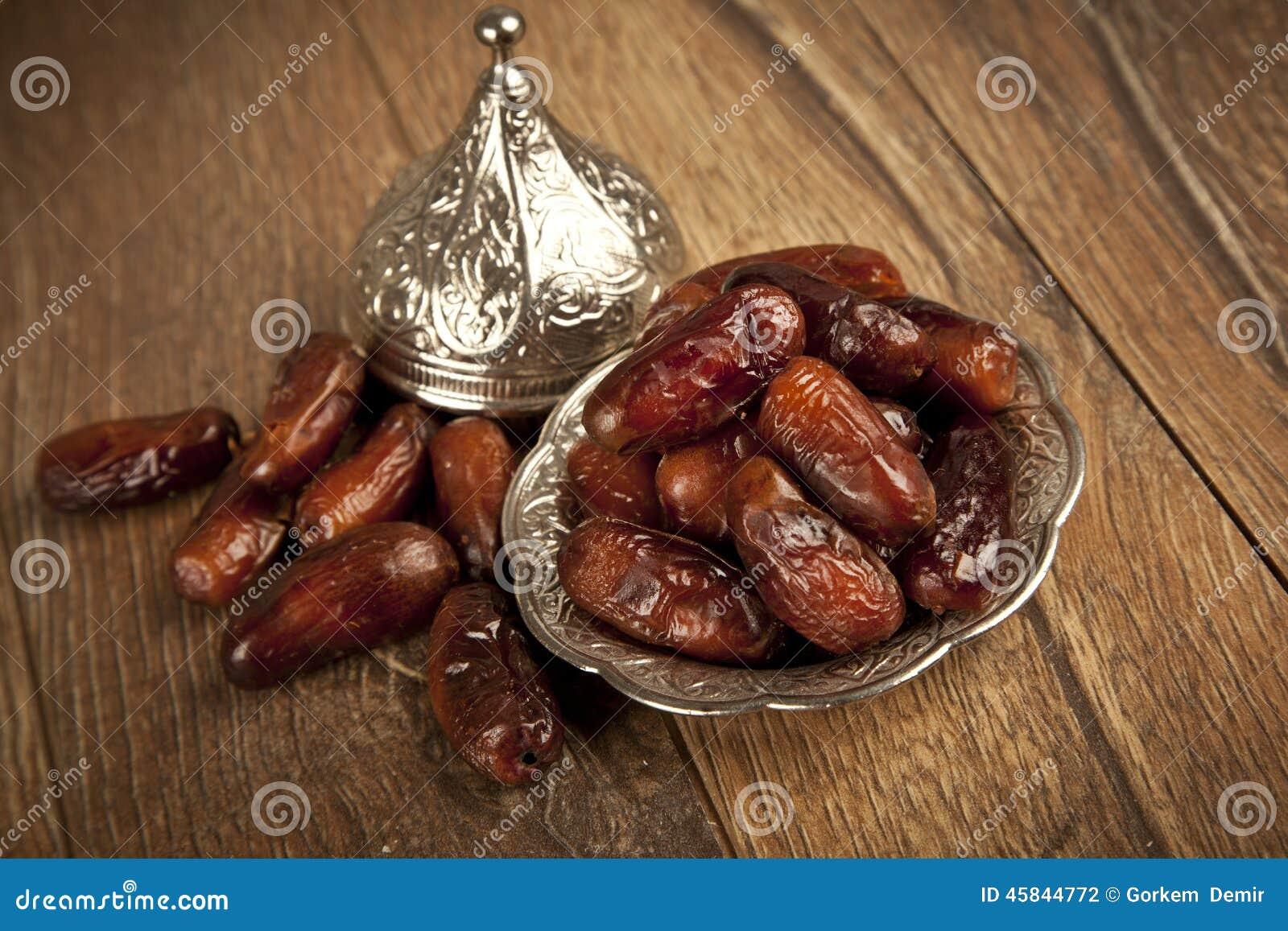 Dried date palm fruits or kurma, ramadan ( ramazan ) food