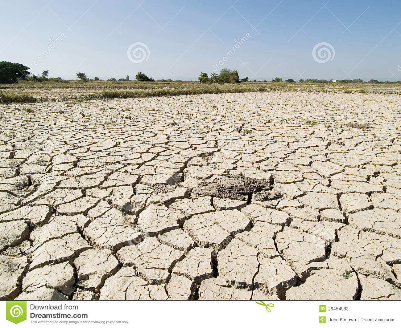Dried earth because of no water