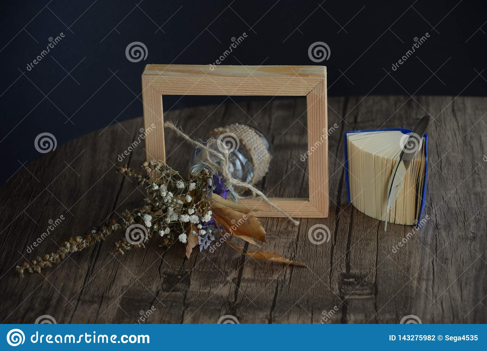 Dried flower in the frame