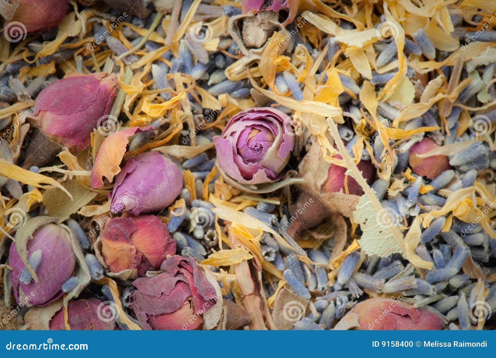 Dried flower potpourri aromatherapy
