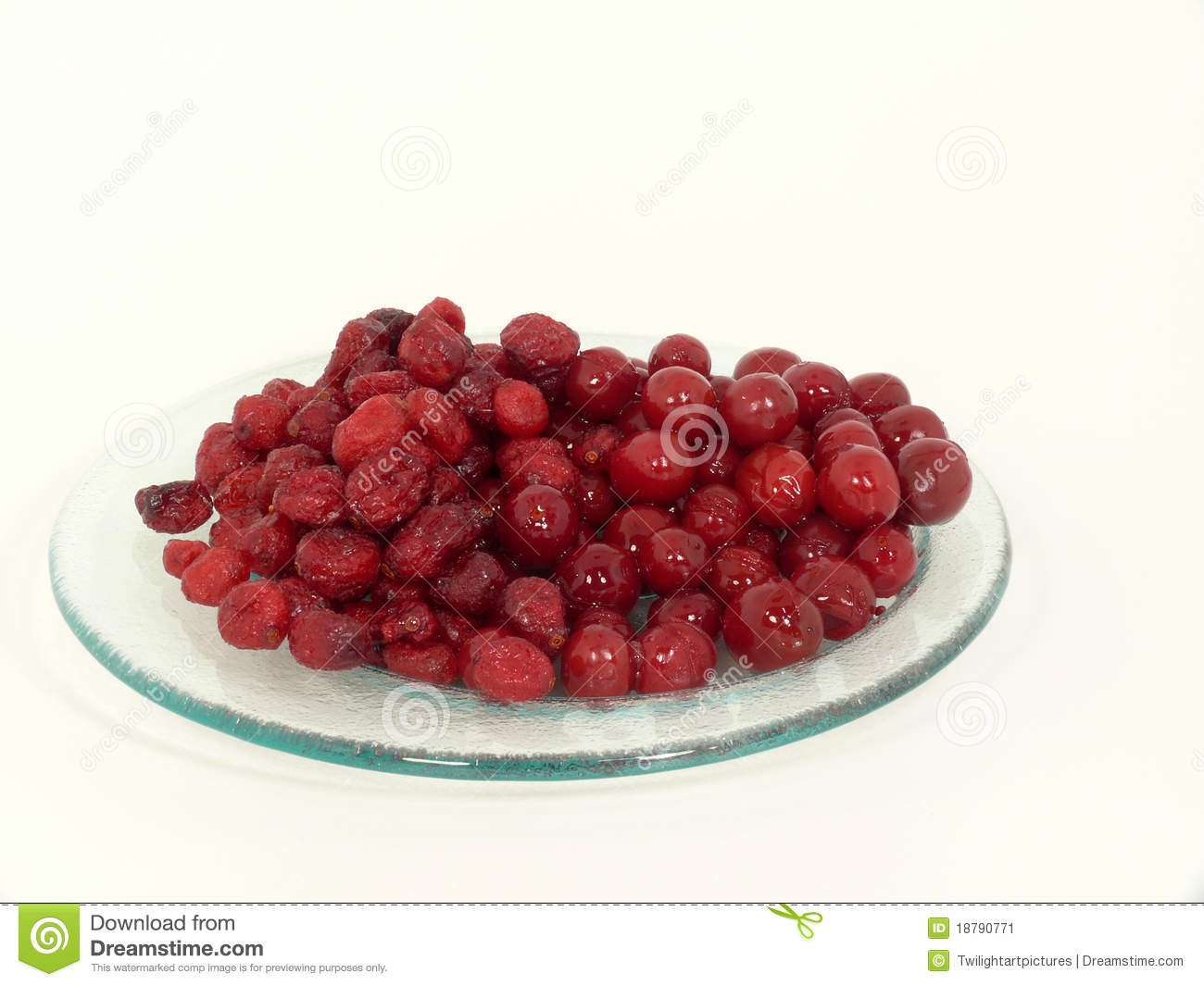 Dried And Fresh Cranberries Stock Image - Image: 18790771