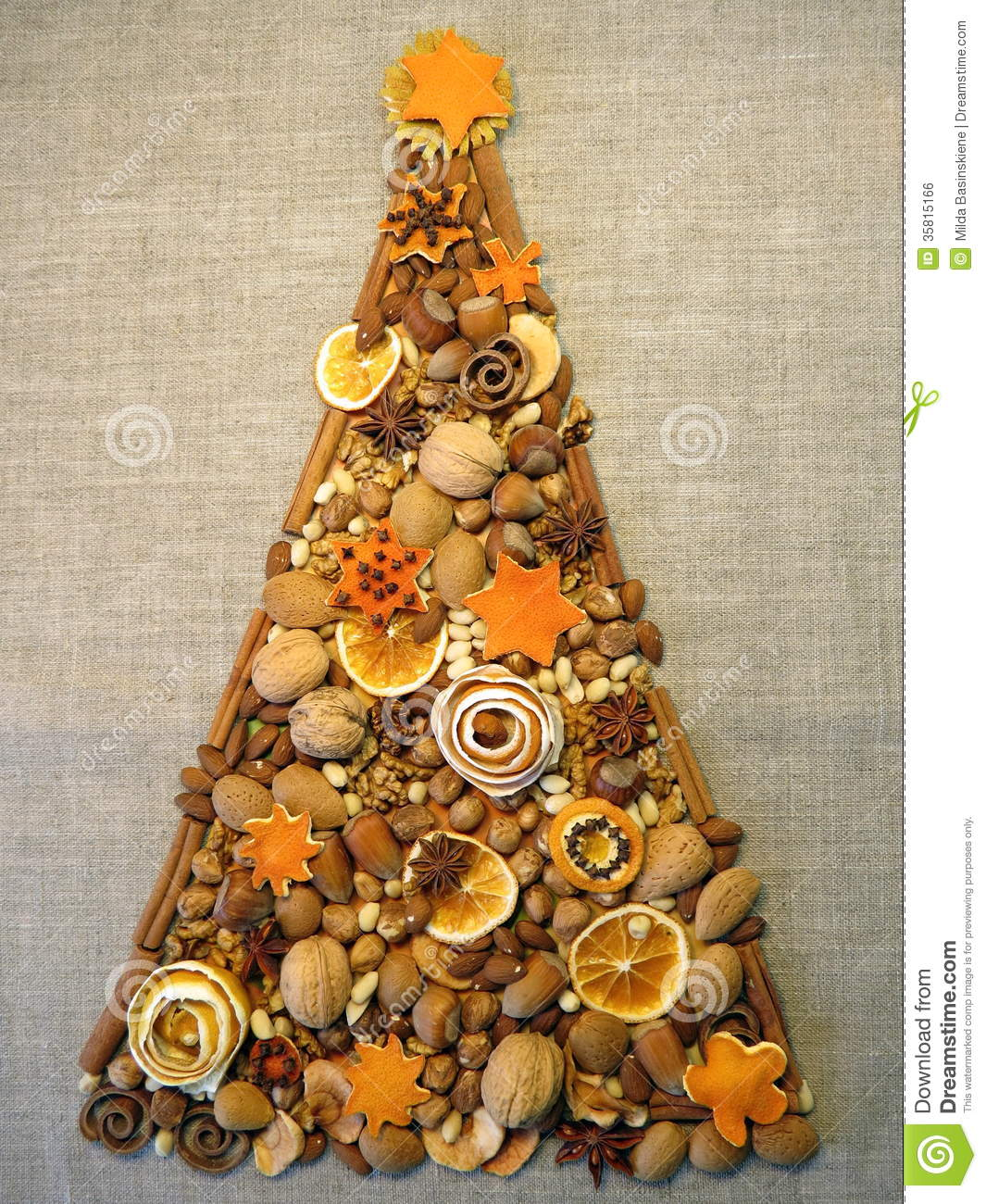 Dried fruits christmas tree stock photo image