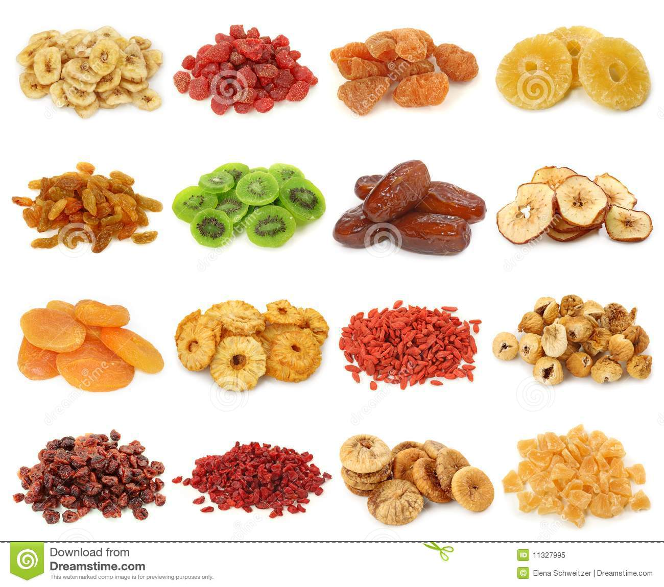 Dried fruits collectio