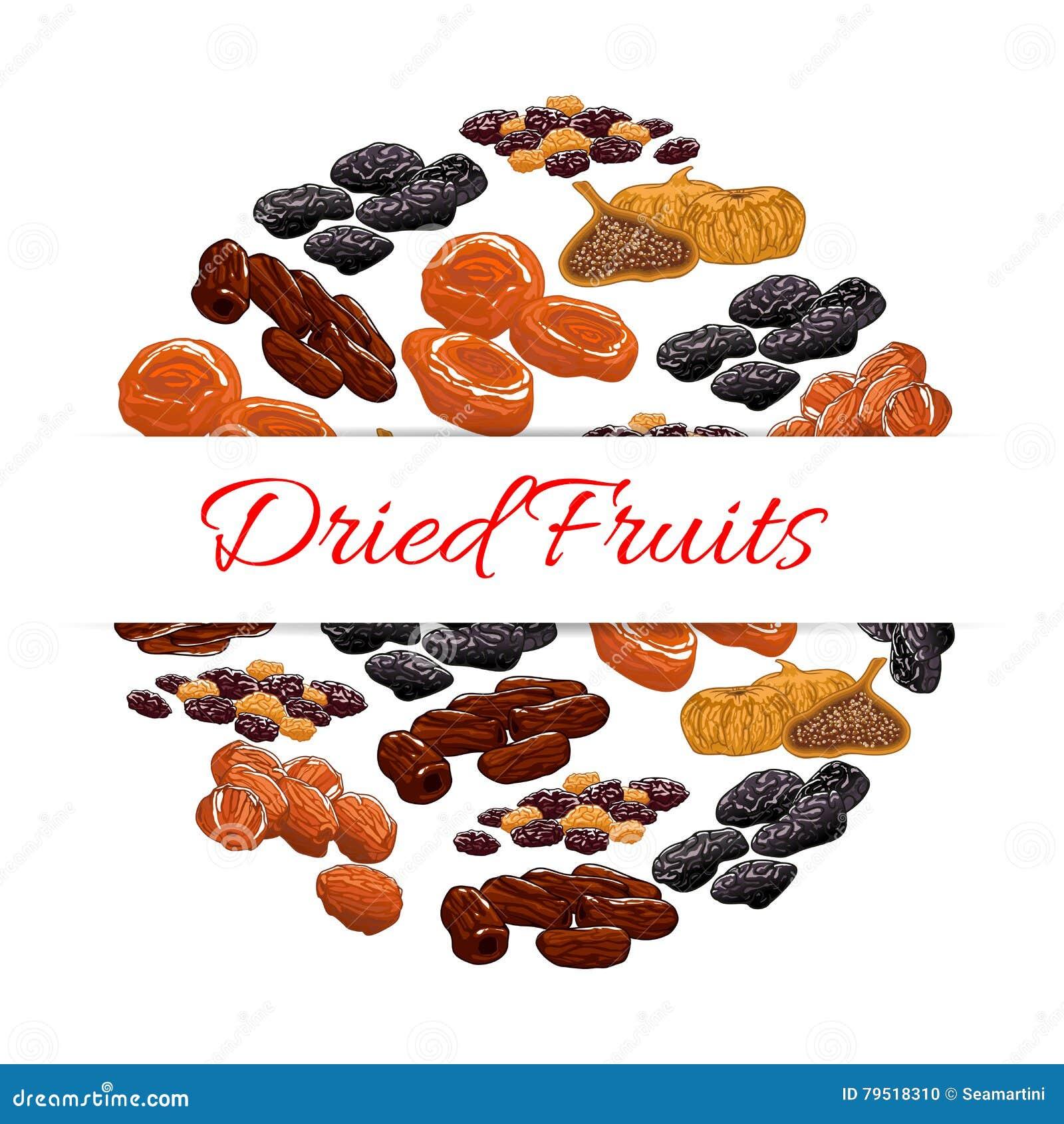 Dried fruits product emblem