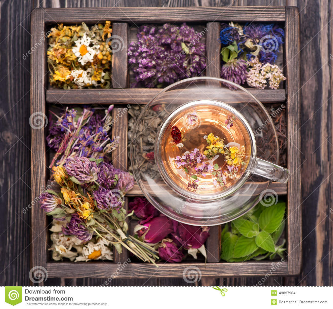 Dried Herbs and flowers and herbal tea
