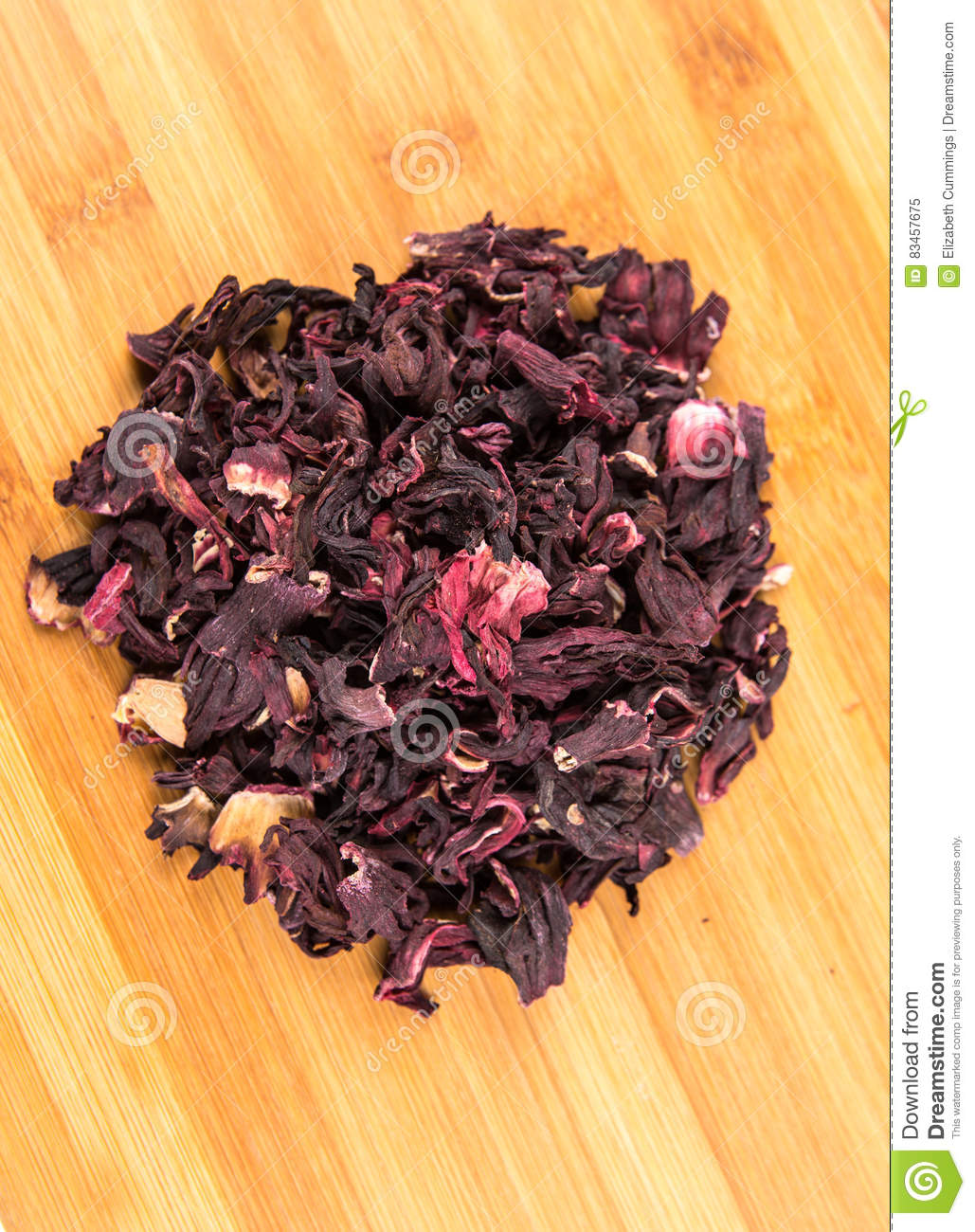 Dried Hibiscus Flower Petals Stock Image Image Of Ingredients