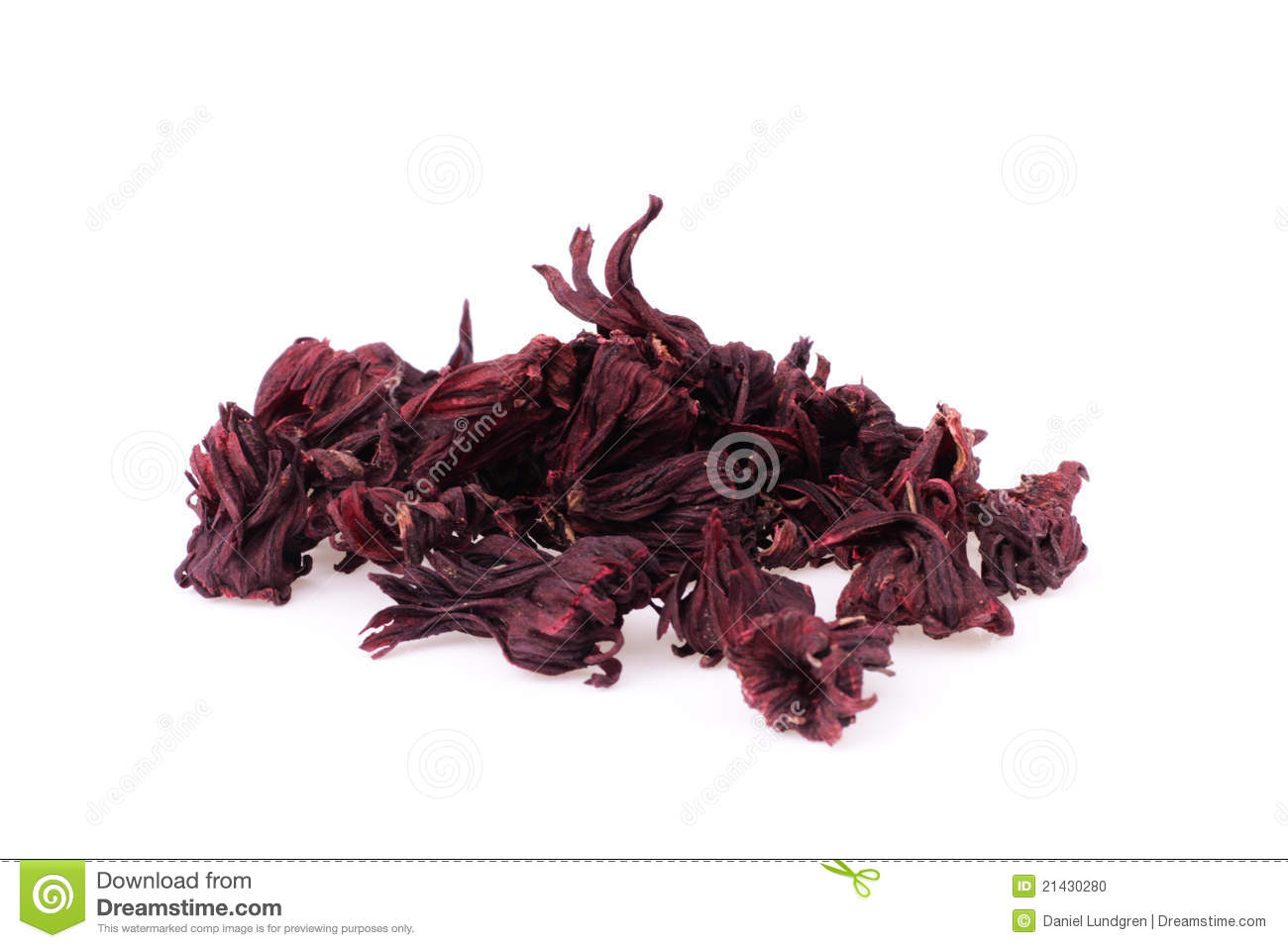 Dried Hibiscus Flowers Isolated Stock Photo Image Of Snack
