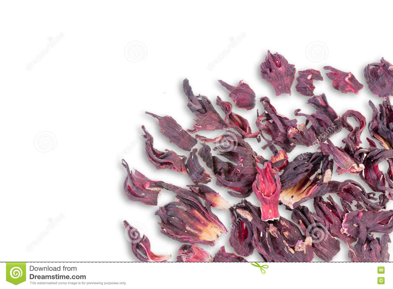 Dried hibiscus tea leaves scattered on white stock image image of dried hibiscus tea leaves scattered on white izmirmasajfo Images