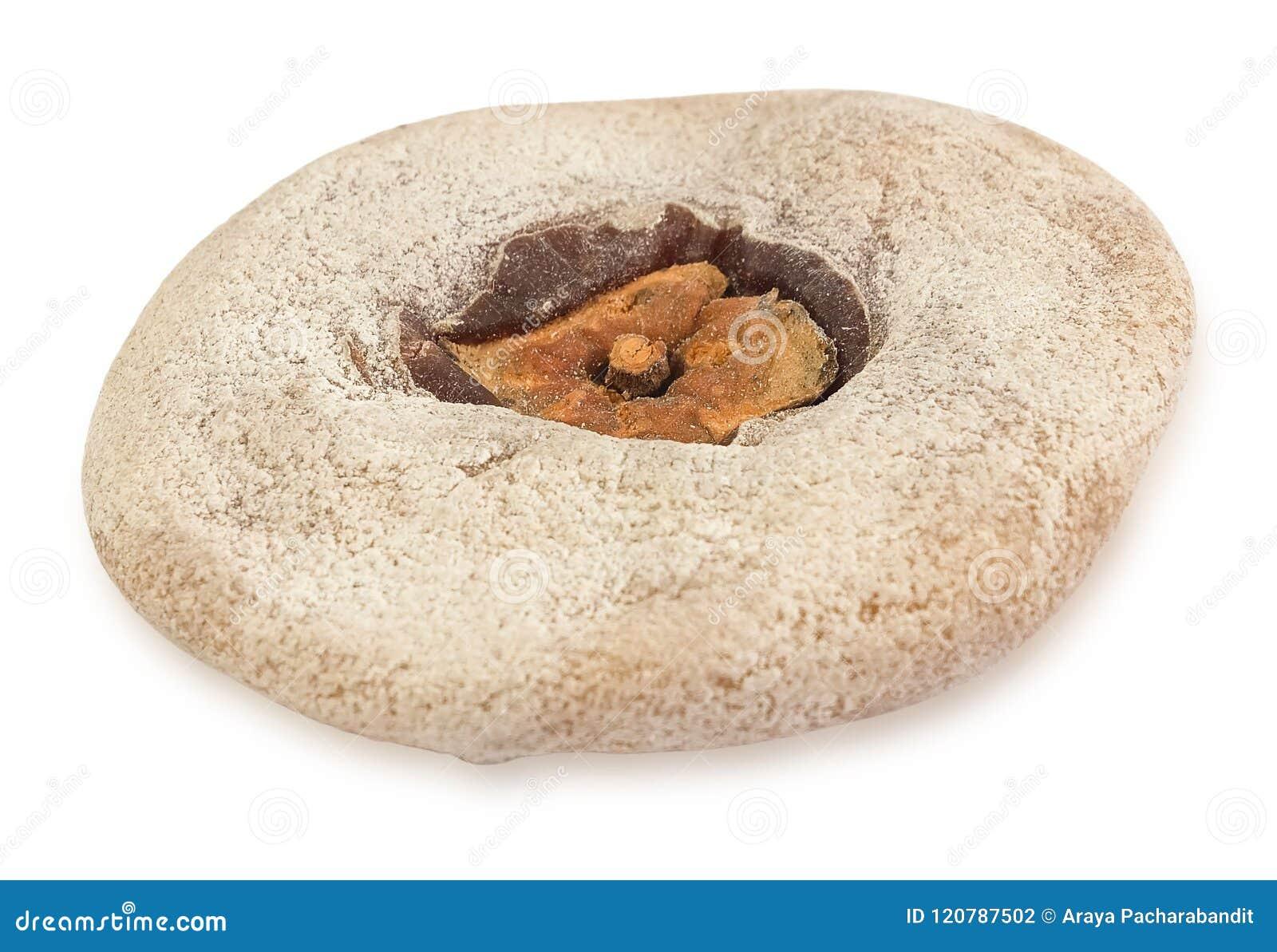 Dried Kaki Or Persimmon Fruits On White Background Stock Photo