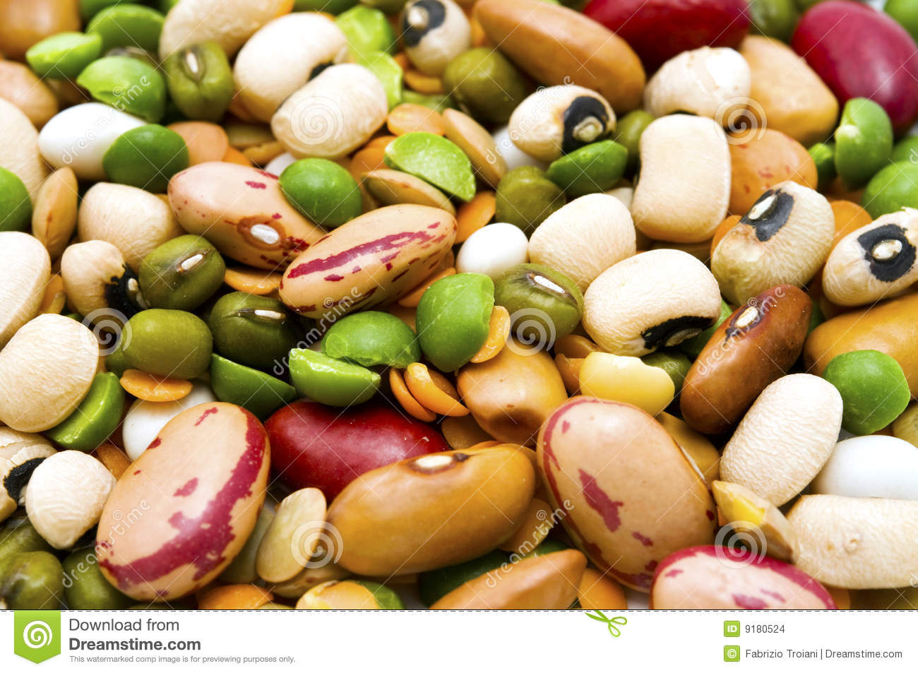 Dried Legumes And Cereals Stock Images - Image: 9180524