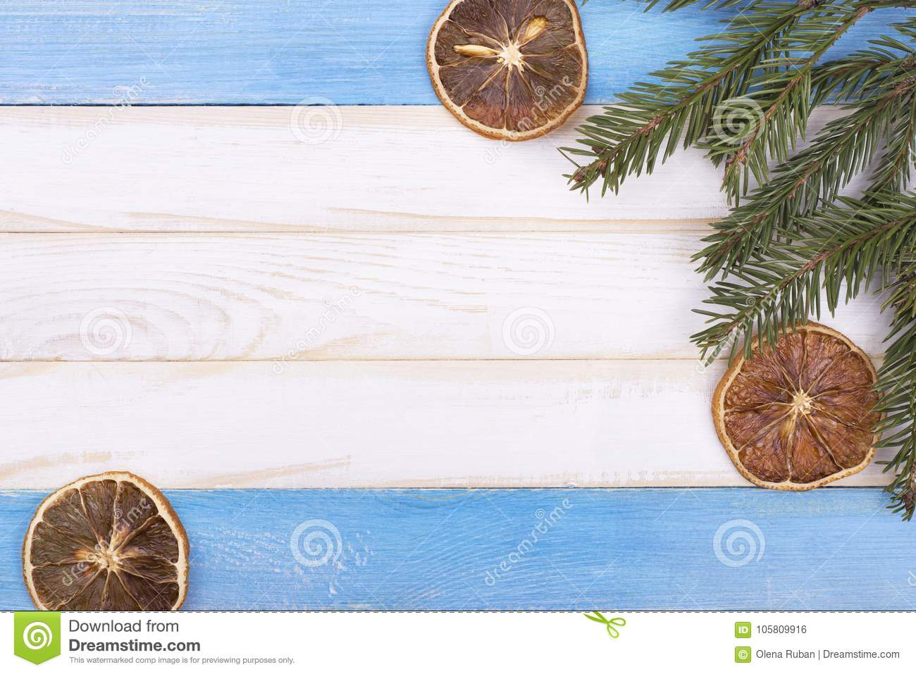 Dried Lemons And A Branch Of A Tree Stock Photo Image Of Merry