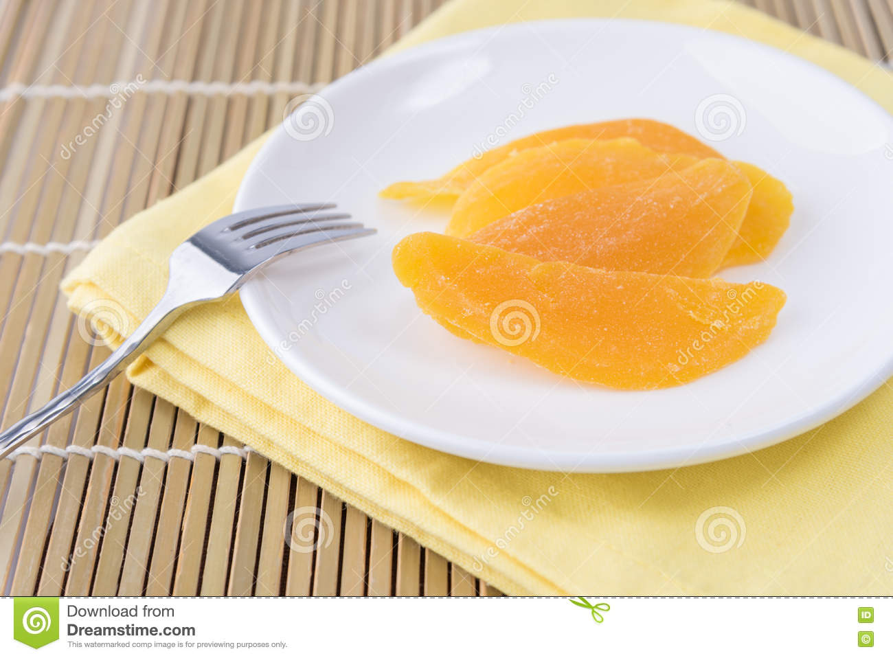 Dried Mango In White Dish Stock Photo Image: 77986517 Philippine How To Eat