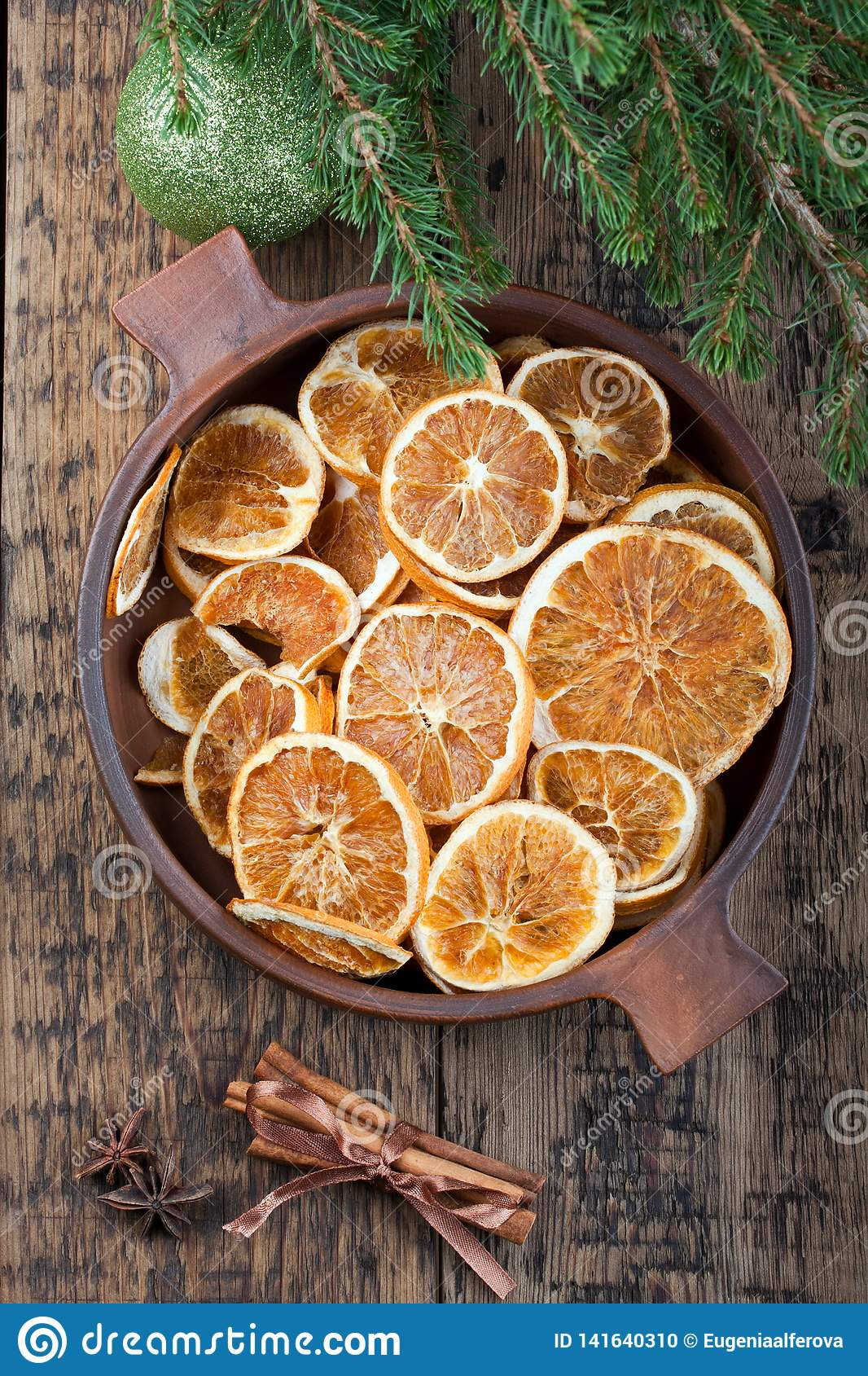 Dried Orange Slices Christmas Decoration Stock Photo Image Of