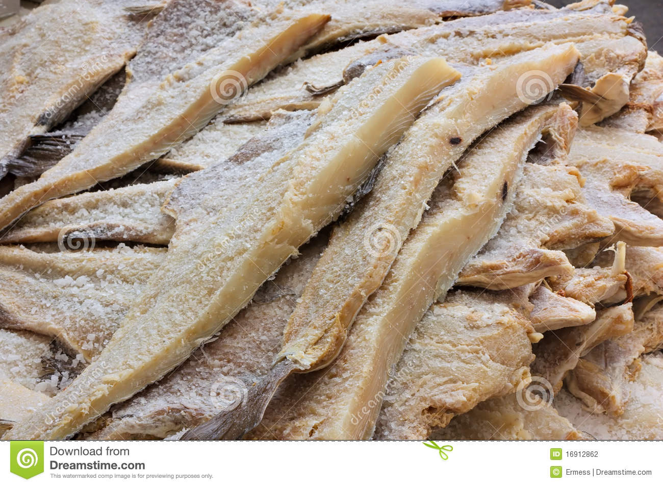 Dried salted cod stock photography image 16912862 for Where to buy salted cod fish