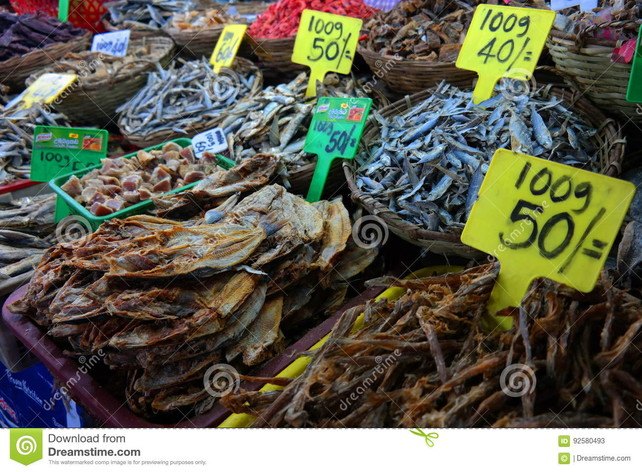 Dried salty fish