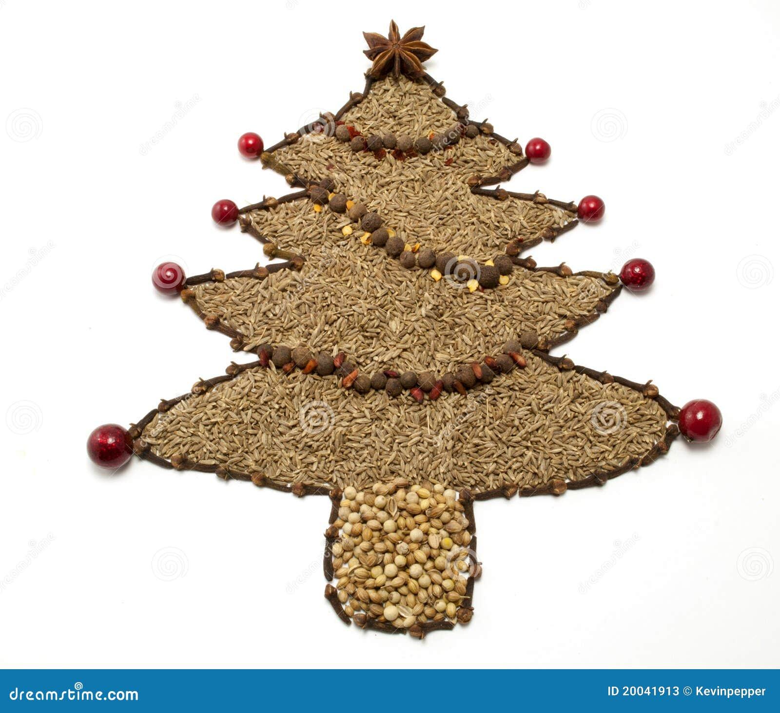 Dried spice christmas tree stock photos image
