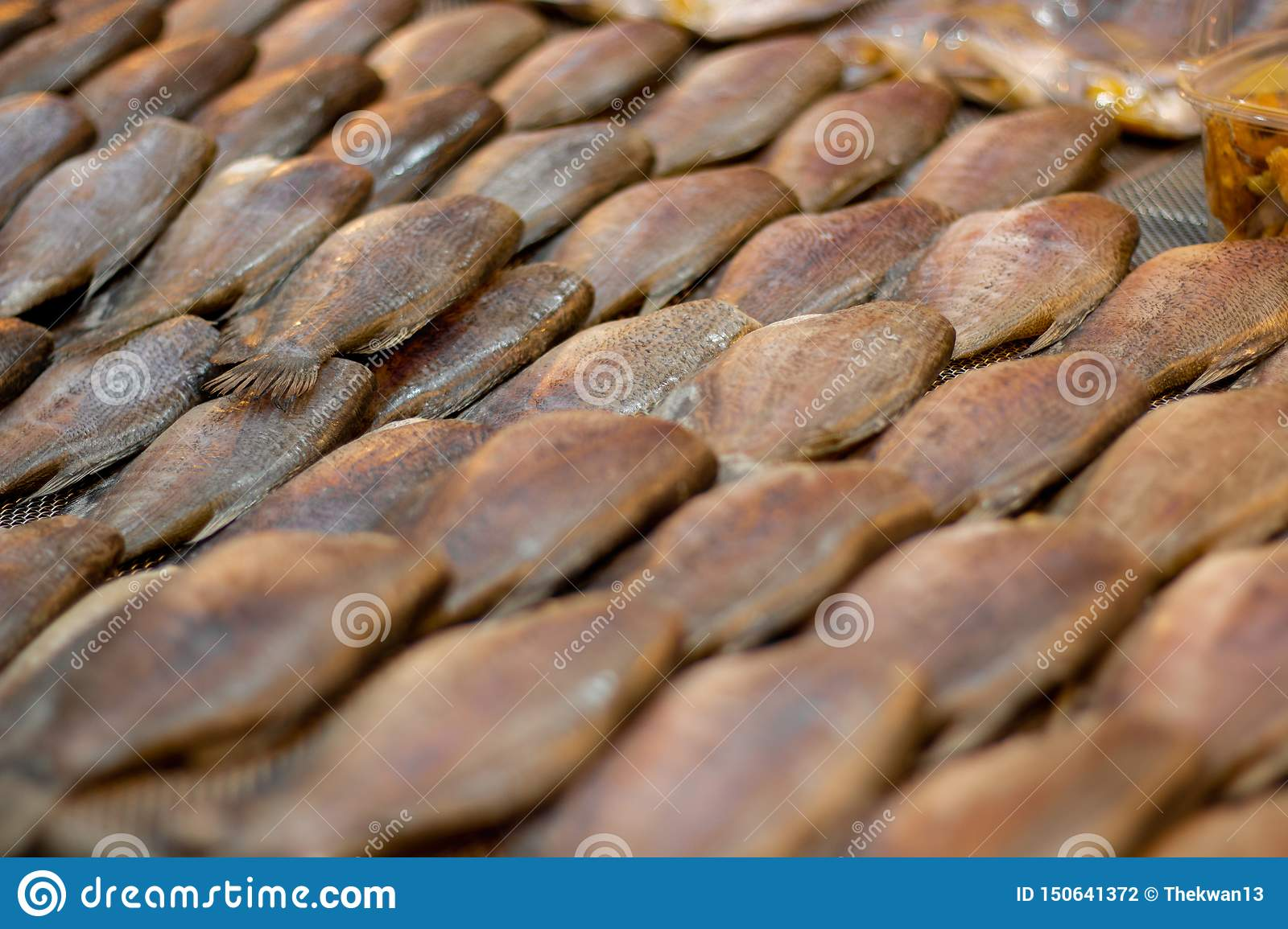 Dried Trichogaster pectoralis fish , Sun dried fish