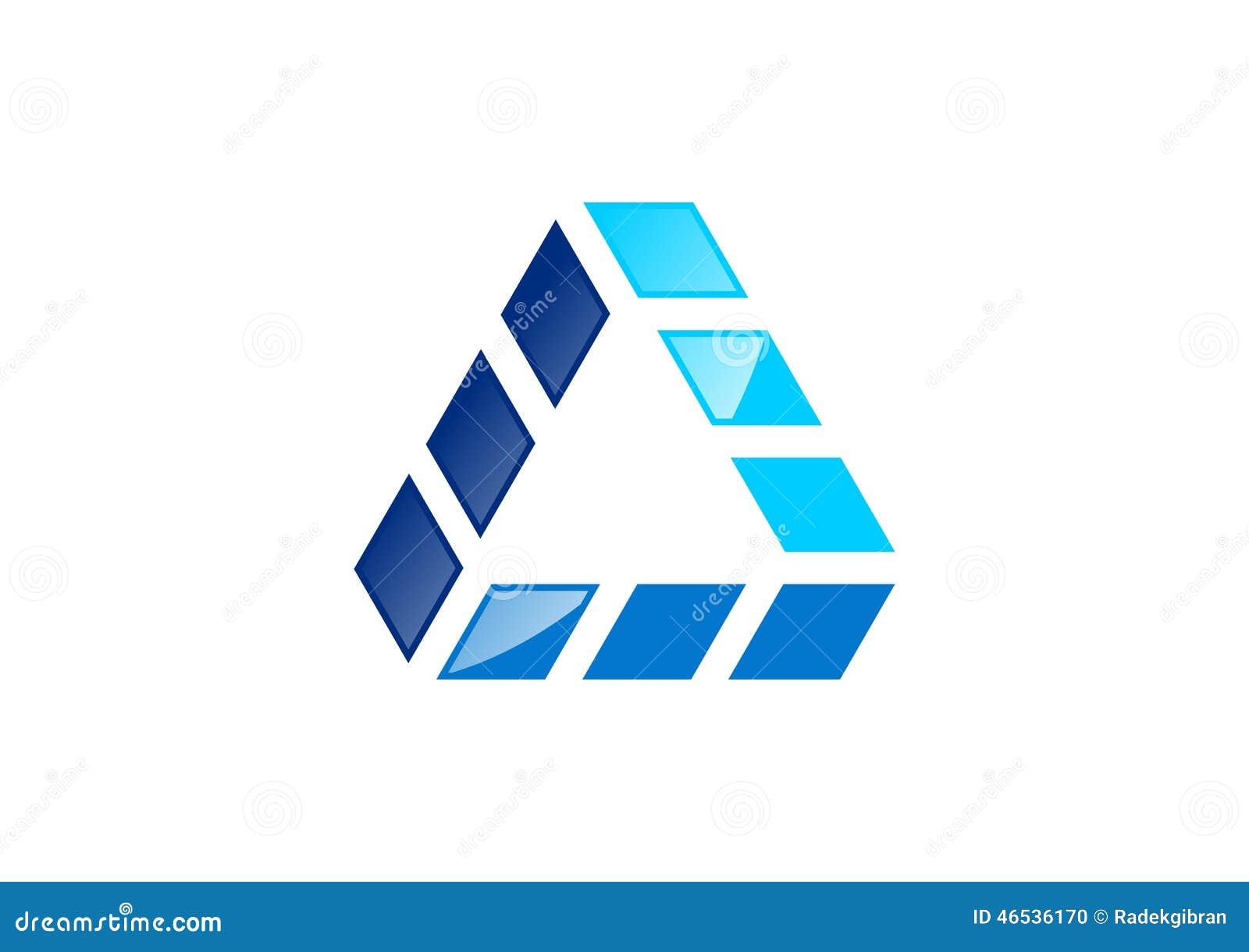 Driehoek, de bouw, embleem, huis, onroerende goederen architectuur, huis, bouw, het ontwerpvector van het symboolpictogram