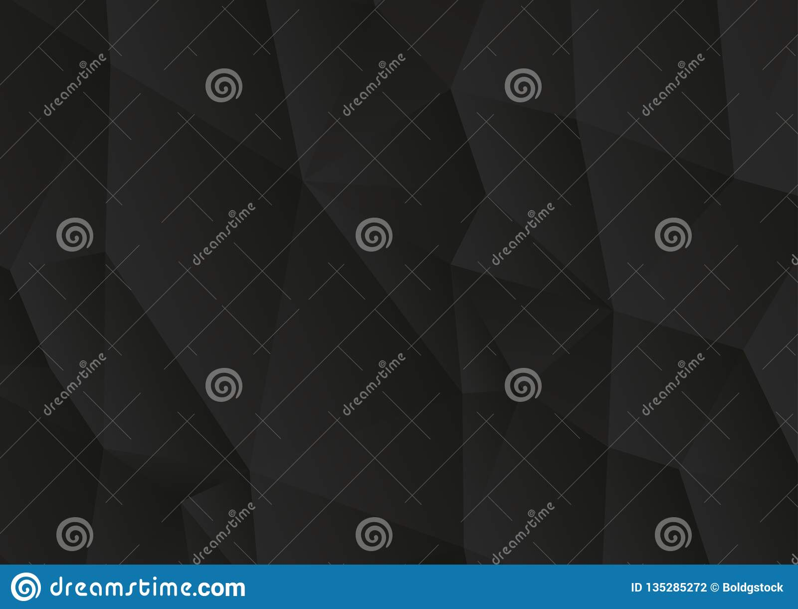 Driehoekige abstracte zwarte vectorachtergrond, de lage polyachtergrond van het driehoekenmozaïek