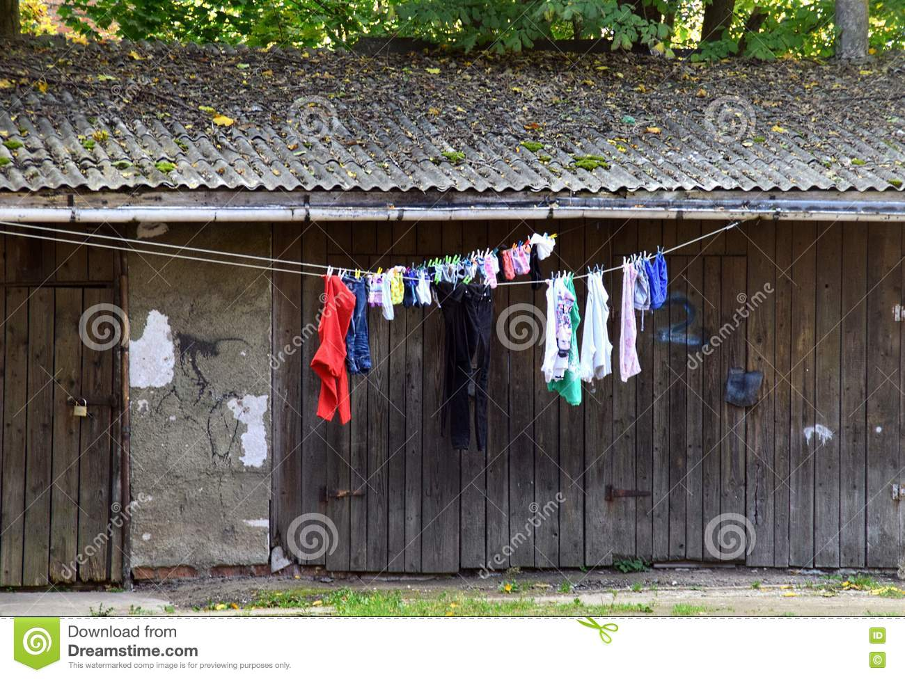 Download Dries linen stock photo. Image of barn, linen, dries - 79788166