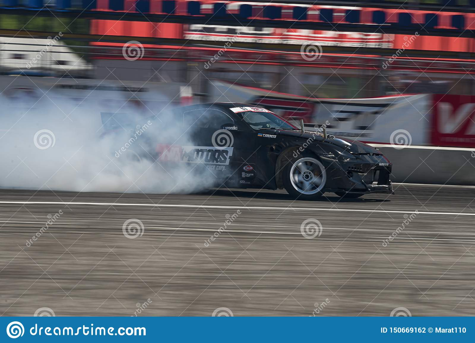 Drift Car Brand Nissan Overcome Turn Track Editorial Photography Image Of Grand Black 150669162