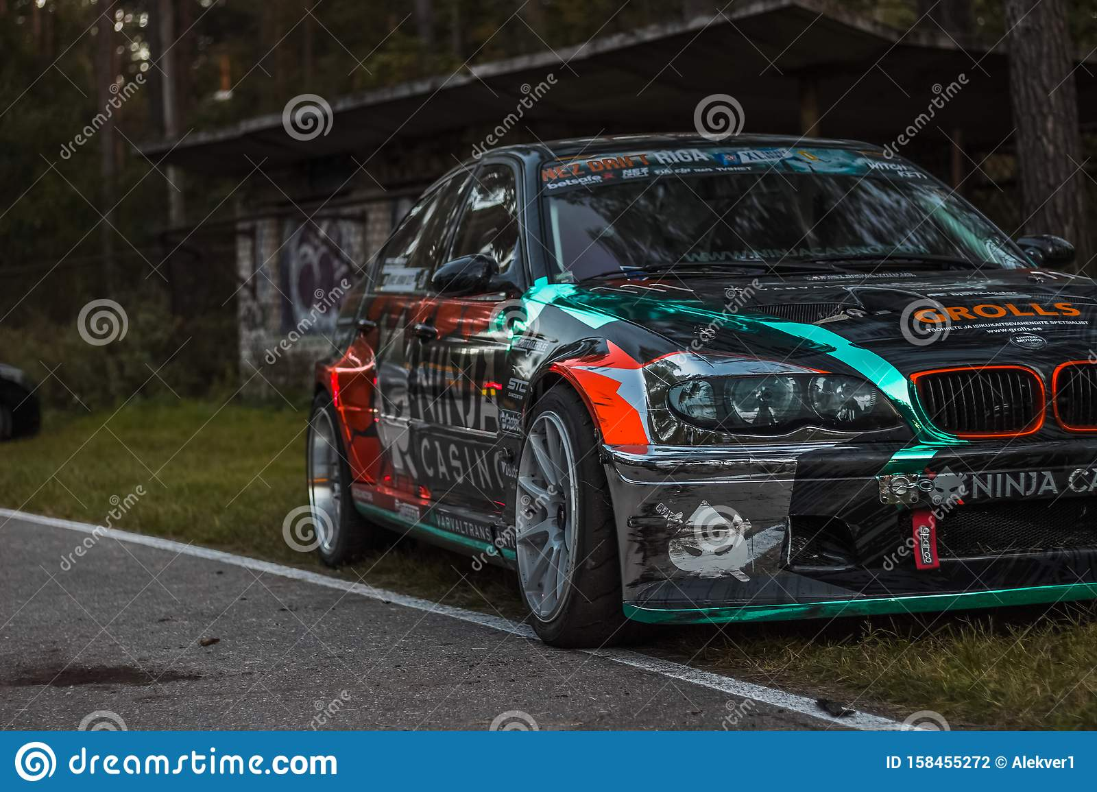 Drift Car On The Race Track Editorial Photography Image Of Sunset Racetrack 158455272