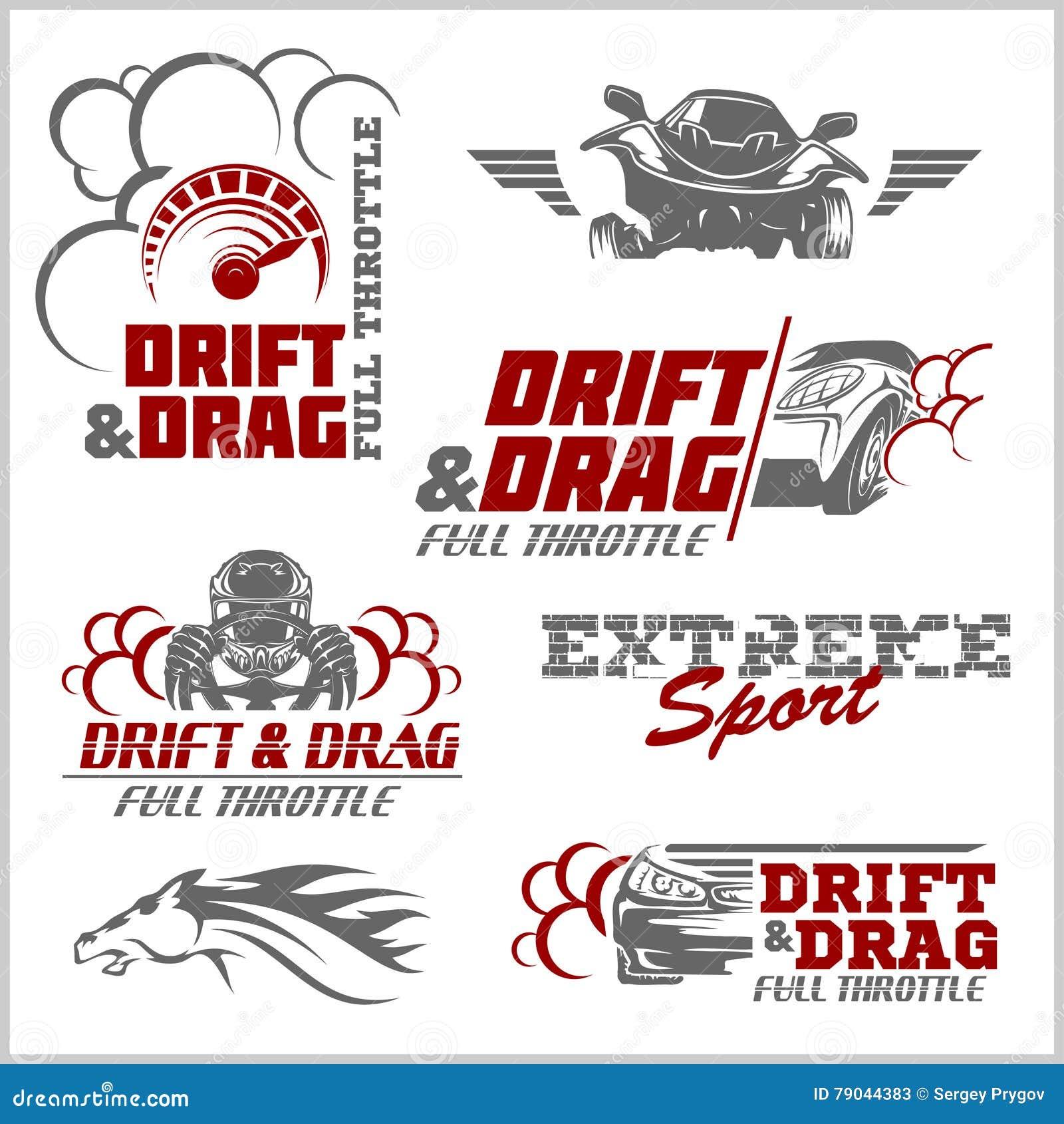 Drift Drag Racing Tuning Motor Sport Set Of Cars Logo Stock Vector Illustration Of Black Design 79044383