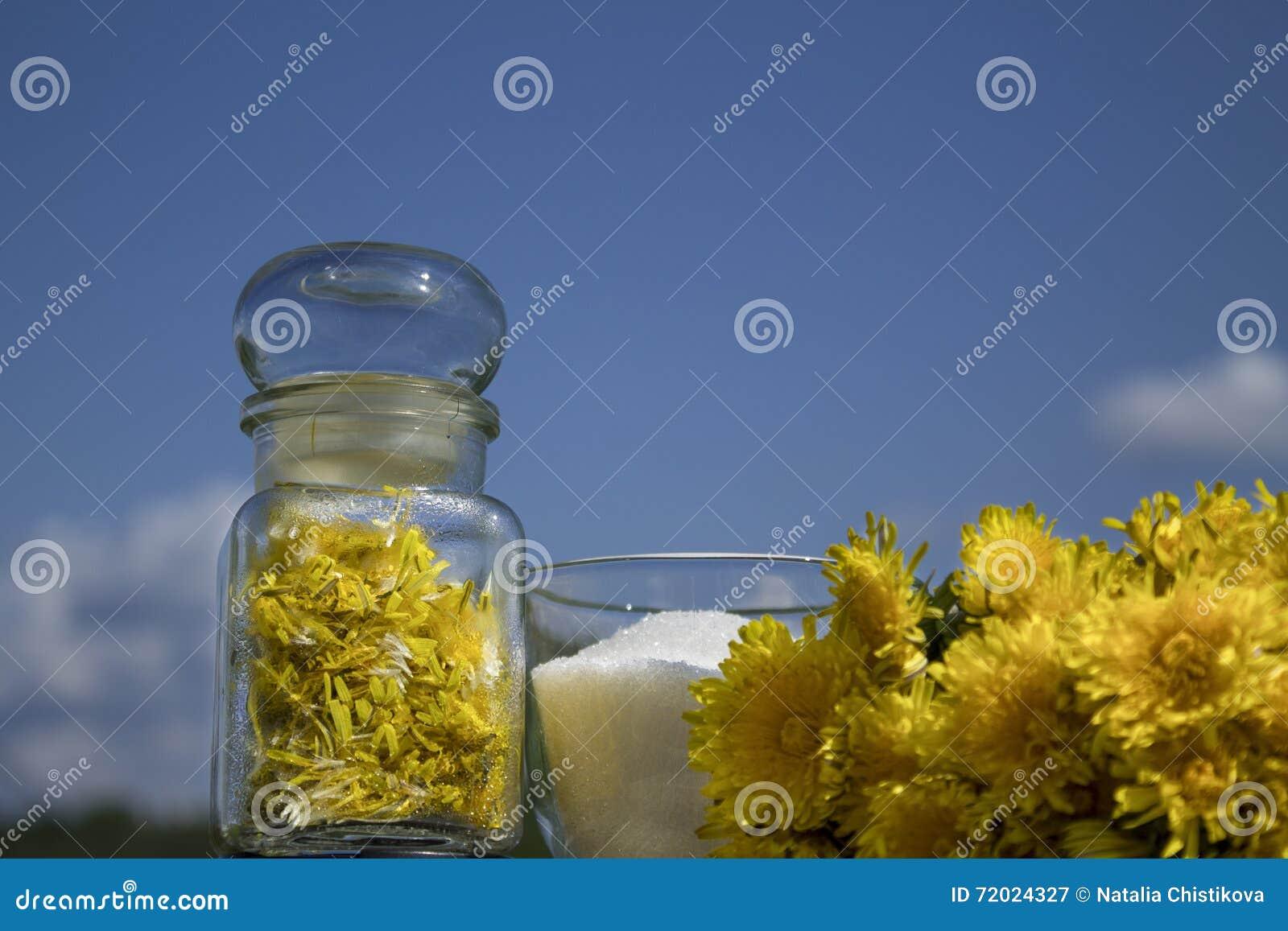 Driftstopp från blommorna av maskrosor