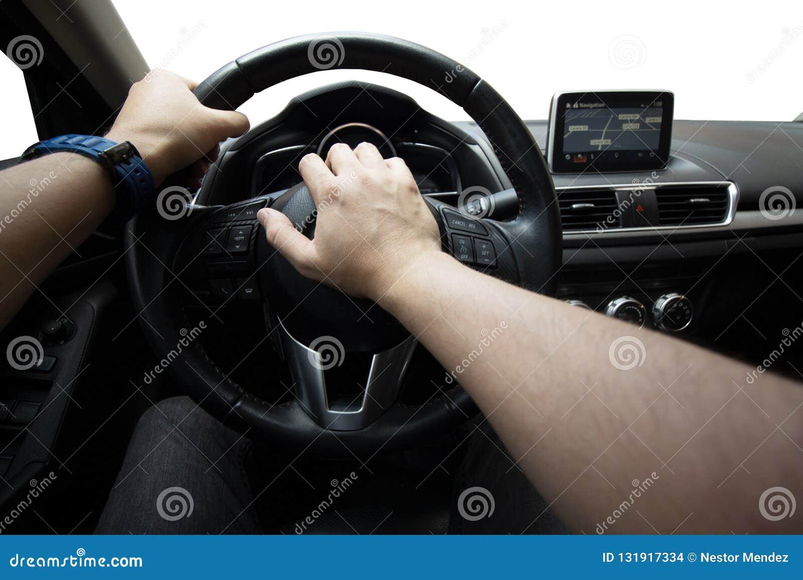 Drijvend de auto, het toeteren, verkeersveiligheid