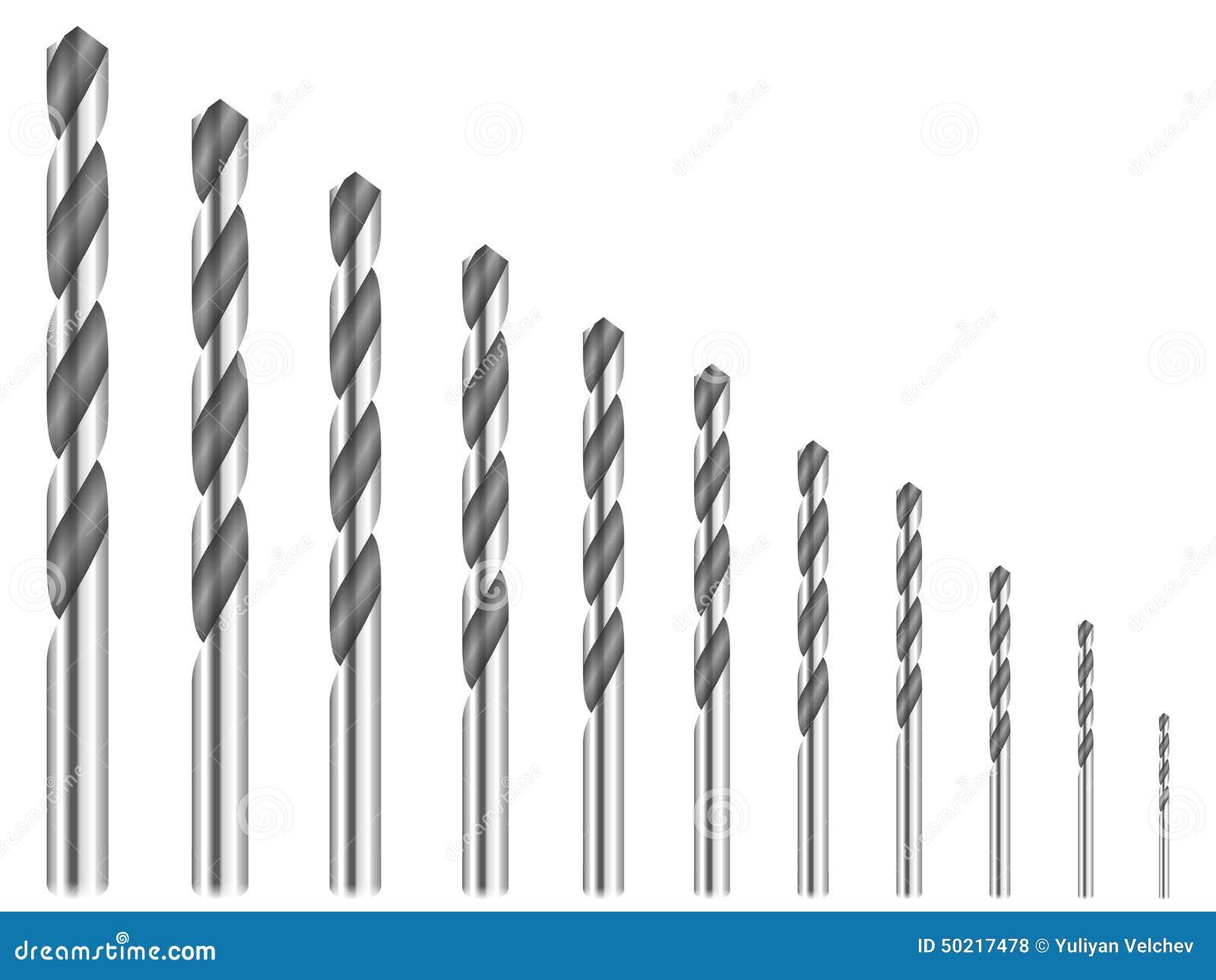 Power Drill Bit Clip Art : Drill bits stock vector image
